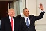 Donald Trump e Barack Obama antes da posse do republicano