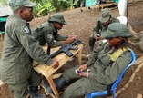 FARC members in transioty camps