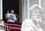 Papa Francisco celebra Angelus no Vaticano