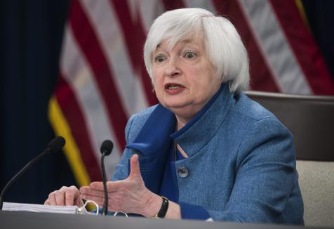 A presidente do Federal Reserve, Janet Yellen