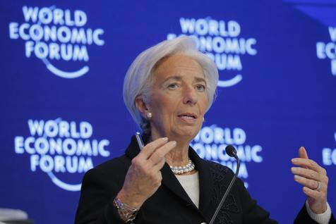 A diretora do FMI, Christine Lagarde, no Fórum de Davos de 2017